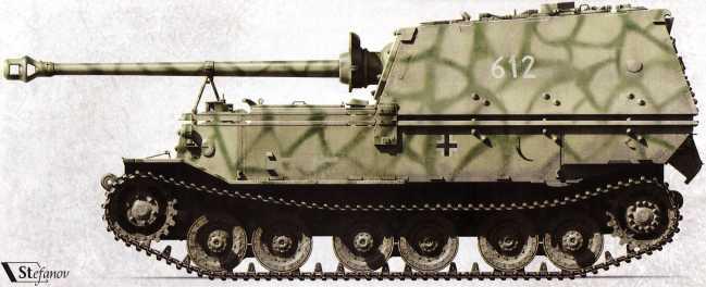 «Фердинанд» №612 2-й роты 654-го батальона накануне начала операции «Цитадель», июль 1943г.