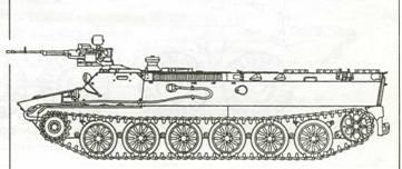 МТ-ЛБ с пулеметом НСВТ