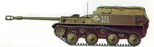 Самоходная установка АСУ-57, 1972 год.