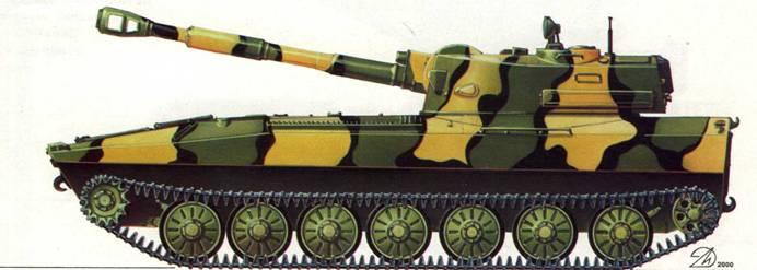 Самоходная гаубица 2С1 «Гвоздика». Парад Победы, Москва, 9 мая 1995 года.