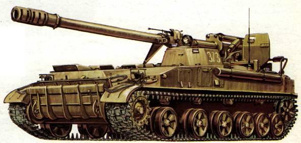 Самоходная пушка 2С5 «Гиацинт». Западная группа войск, Магдебургский полигон, февраль 1993 года.