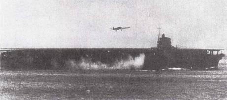 Палубный торпедоносец Тип 97 (B5N) отрабатывает «подскоки» на авианосце «Сокаку».