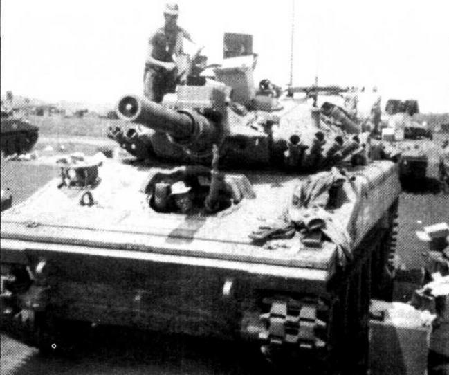 Во Вьетнаме одним из первых получил «шериданы» 1-й эскадрон 11-го бронекавалерийского полка