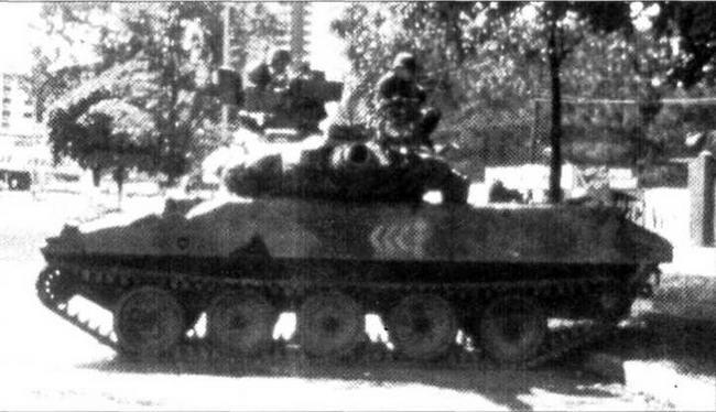 Танк М551А из состава 82-й воздушно-десантной дивизии во время операции «Джаст Коз» в Панаме