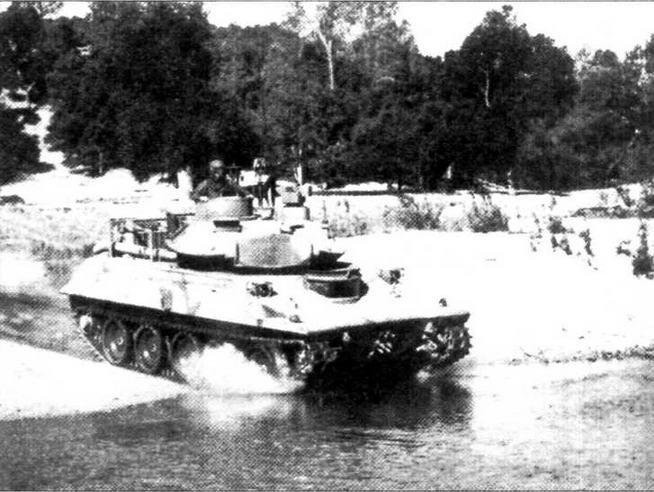 «Шеридан», модернизированный по программе ARMVAL, во время испытаний. Конец 1970-х годов.