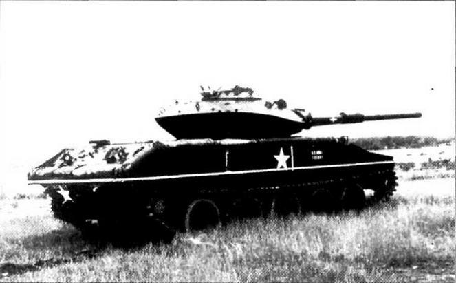 Опытный образец танка «Шеридан», вооруженный 105-мм пушкой ЕХ35