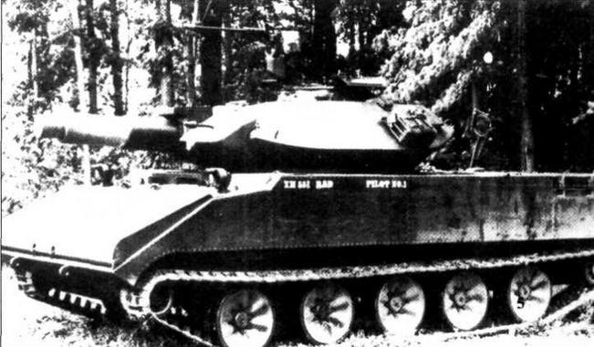 Первый прототип танка ХМ551