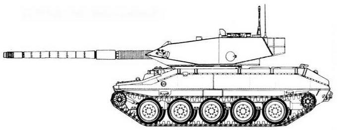 М551 с башней танка «Стингрей»