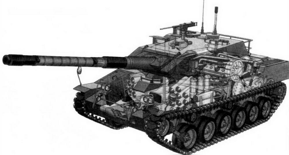 Компоновка танка «Стингрей»