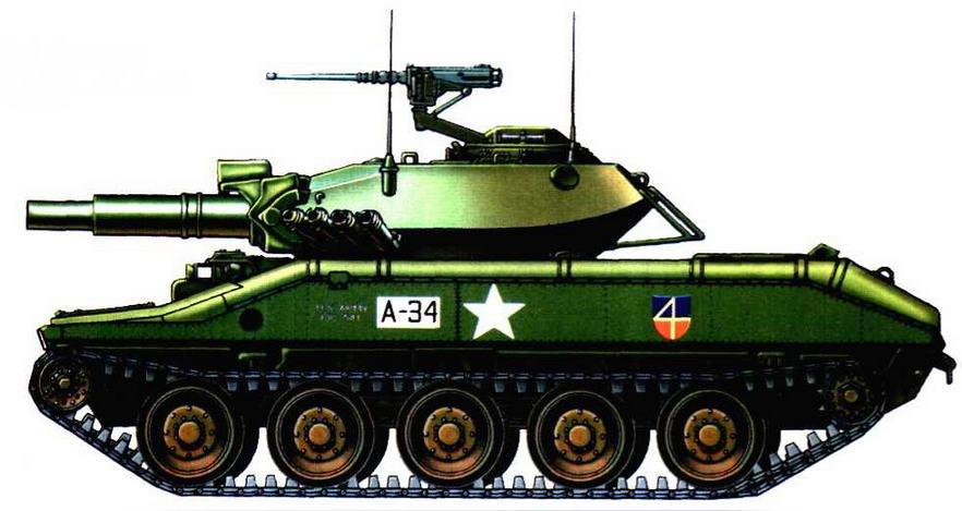 Легкий танк М551 «Шеридан» из танковой школы, находящейся в Форд-Ноксе, 1968 г.