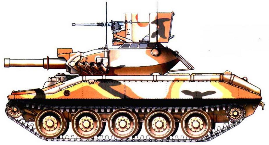 Легкий танк М551 «Шеридан» из состава 1-г о эскадрона 116-го бронекавалерииского полка Национальная гвардия штата Айдахо, 1970 г.