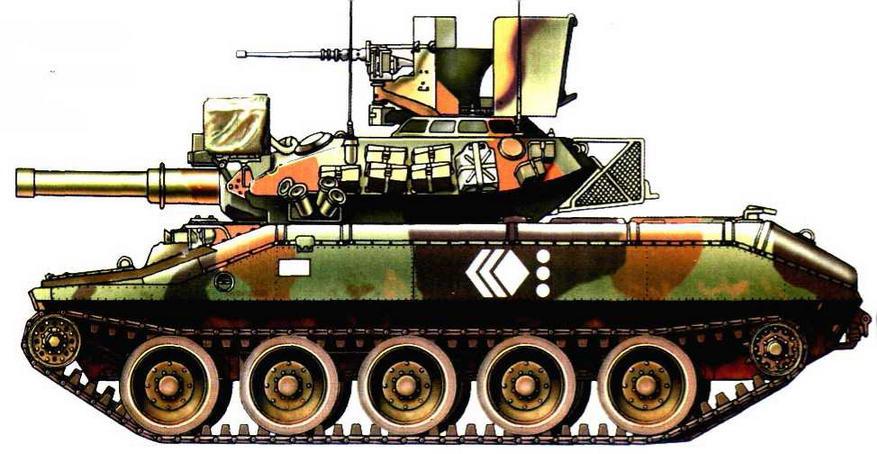 Легкий танк М551 «Шеридан» из состава 82-0 воздушно-десантной дивизии накануне операции «Щит пустыни», 1990 г.