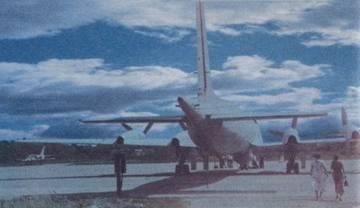 Самолет Ил-38, вид со стороны хвоста