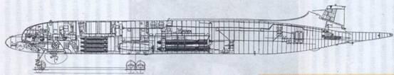 Компоновка самолета Ил-38