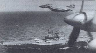 Многоцелевой авианосец «Мидуэй». Вид с самолета Ил-38 ВВС КСФ, следующий в сопровождении F-4