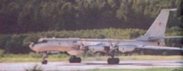 Ту-142М на старте, аэродром авиации КСФ Кипелово