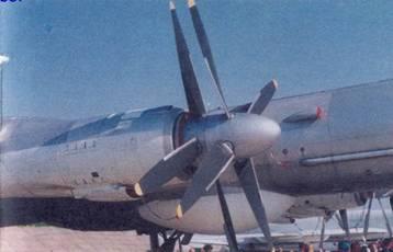 Третья силовая установка самолета с двумя винтами противоположного вращения