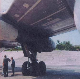 Левая стойка основного шасси