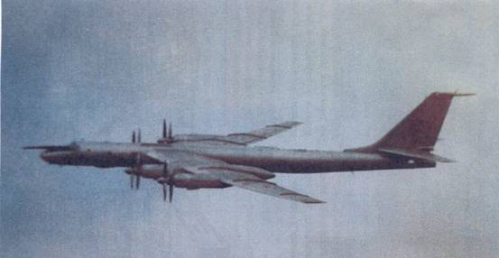 Самолет Ту-142М3 в полете