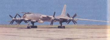 Самолет Ту-142 первых серий на аэродрме Кульбакино