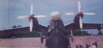 Самолет Бе-12, вид спереди