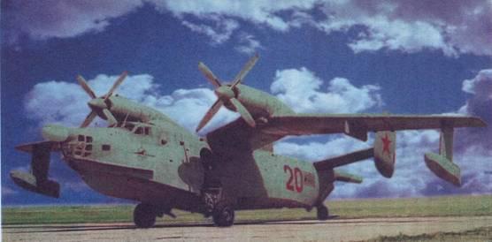 Самолет Бе-12 первой серии на аэродроме Очаков