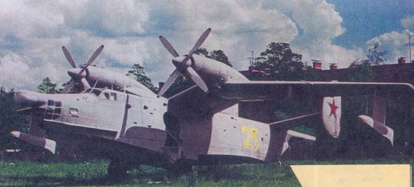 Самолет Бе-12, поступивший из 33 Центра авиации ВМФ, музей ВВС, Монино