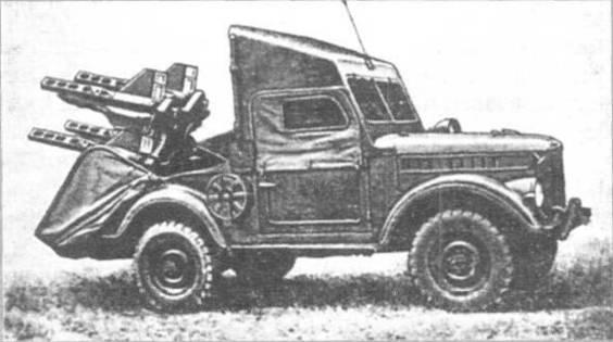 Боевая машина 2П26 с ракетами ЗМ6 комплекса «Шмель» в боевом положении