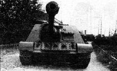СУ-122П во дворе Уралмашзавода. Вид с левого борта.