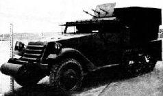 Зенитная САУ М17 на шасси БТР М5 в Берлине. Апрель, 1945 г.