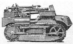 "Самоходная полевая пушка на шасси танка ""Рено-ФТ"". 1918 г."