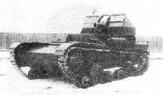 Самоходная мортира СУ-5-3 сзади в походном положении.
