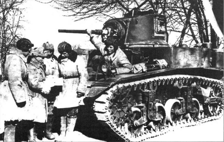 Постановка боевой задачи экипажу танка М3А1 (М3л). Западный фронт. 1942 г.