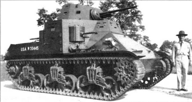 Серийный средний танк М2 с клёпано-сварным корпусом. Август 1939г.