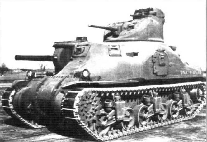 Средний танк М3А1во время испытаний на Абердинском полигоне. Февраль 1942 г.