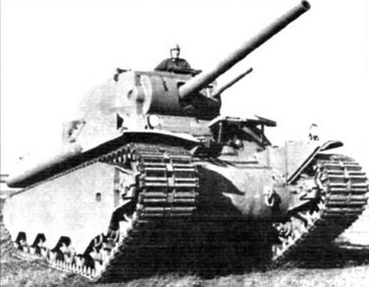Тяжелый танк М6 на полигоне фирмы General Motors. 1942 г.