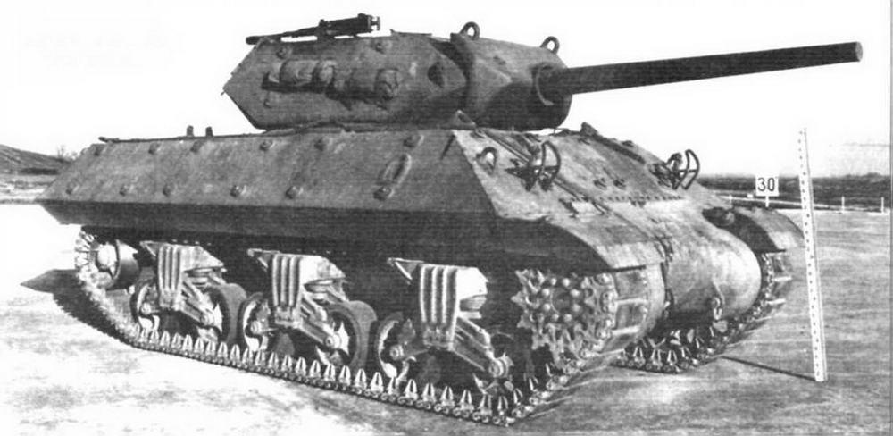 Противотанковая САУ M10 на базе М4А2 с открытой сверху башней