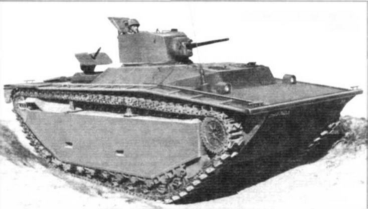 Плавающий танк LVT(A)-1. 1944 г.