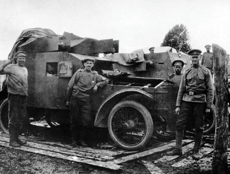 "Бронемашина ""Армстронг-Уитворт-Джаррот"" 22-го автопулеметного взвода. 1916 год."