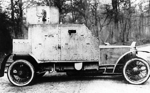 Бронеавтомобиль «Пежо» (с 37-мм пушкой) из состава Бельгийского бронедивизиона. 1916 год (фото из архива Я.Магнуского).
