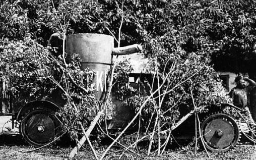 Броневик «Адский» фирмы «Остин» 15-го взвода. Юго-Западный фронт, 1915 год.