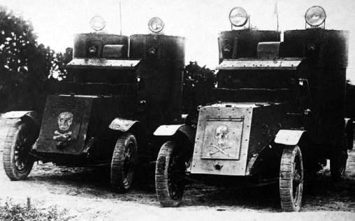Русские броневики в боях