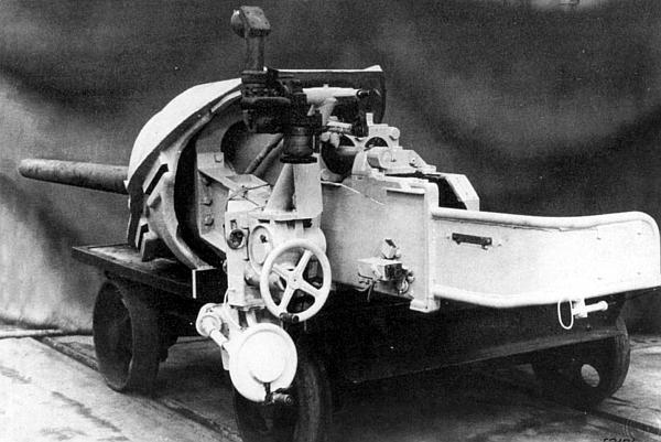 75-мм пушка Pak 39/2, установленная в рамке и прикрытая бронировкой