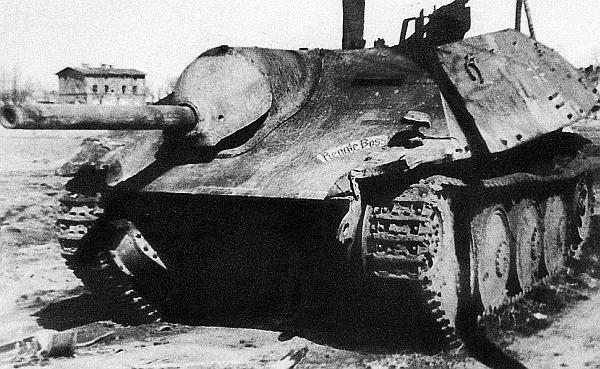 Истребитель танков Jagdpanzer 38 Hetzer, подбитый в пригороде Данцига. Март 1945 года