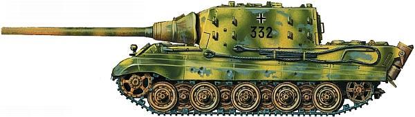 Jagdtiger из состава 3-й роты 512-го батальона тяжелых истребителей танков. Германия, Сент-Андреасберг, апрель 1945 года