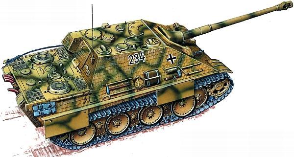 Jagdpanther из 2-й роты 654-го батальона тяжелых истребителей танков. Франция, июнь 1944 года