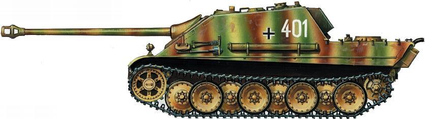 Jagdpanther из состава 560-го батальонатяжелых истребителей танков. Район озераБалатон, март 1945 года