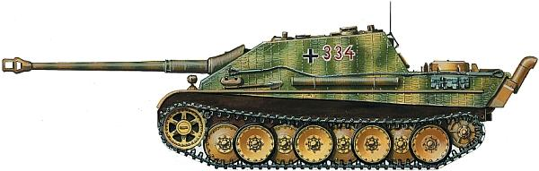 Jagdpanther из состава 654-го батальона тяжелых истребителей танков. Франция, июнь 1944 года
