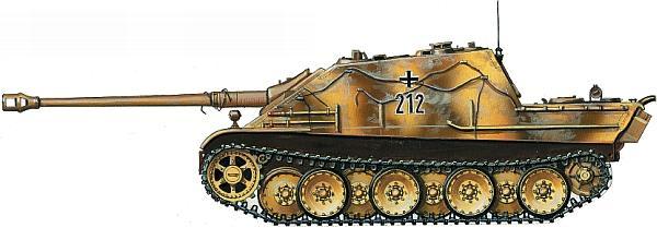 Jagdpanther из 2-й роты 654-го батальона тяжелых истребителей танков. Германия, «Рурский мешок», март 1945 года