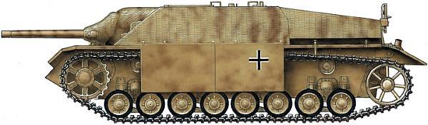 Jagdpanzer IV одной из противотанковых частей Вермахта. 1944 год